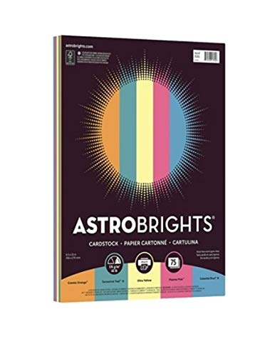 Astrobrights Bright Cover Paper, Letter Size Paper, 65 Lb, FSC Certified, Limited Edition Assorted Colors 3, Ream Of 75 Sheets