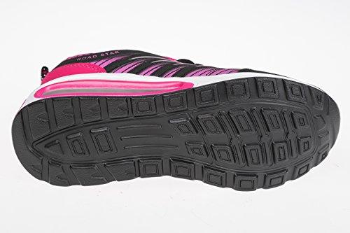 tamaños Unido de y negro tallas rosa 6 8 4 7 superligero deportivo Calzado rosa perros 3 para 5 Schwarz negro Reino cómodo Gibra® wvzWOqA