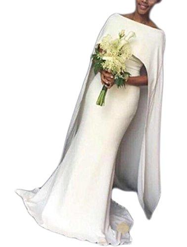 Zipper Satin Wedding Dress - 1