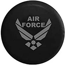 Pike Stealth - USAF Air Force Military Trailer RV Spare Tire Cover OEM Vinyl Black 27.5 in