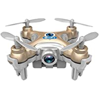 Cheerson CX-10W WiFi Mini FPV Drone with 0.3MP Camera RC Quadcopter (Gold)