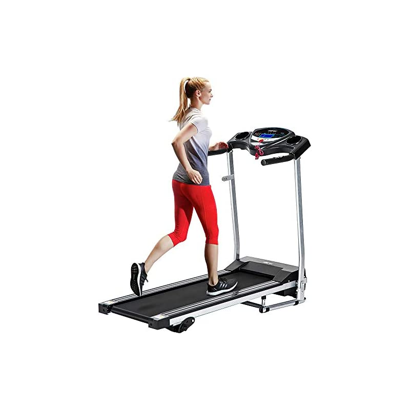 Merax Electric Folding Treadmill - Easy Assembly Fitness Motorized Running Jogging Machine, Compact Size for Home Use