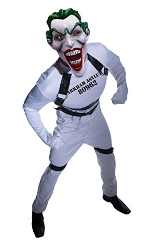 Batman Arkham City Joker's Straightjacket Jumpsuit, White,