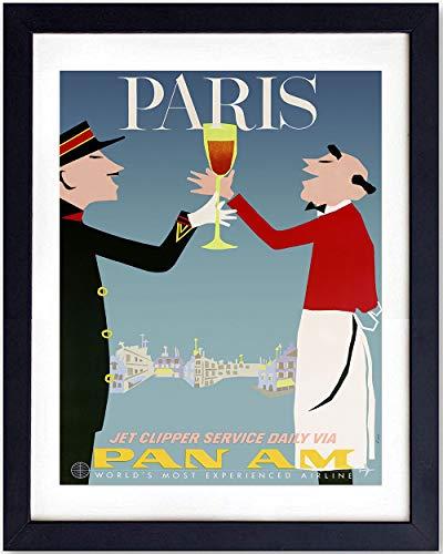 Print Paris Poster Art - Paris Vintage Wall Art Print - 8x10 Unframed Photo - Makes a Great Gift - Chic Home Decor