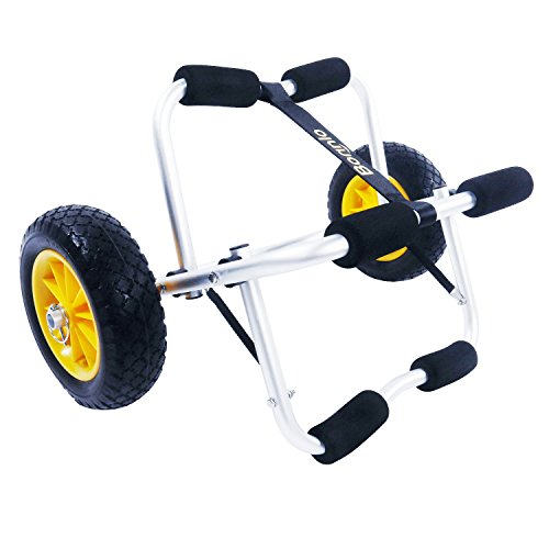 Spare Foam Bumper - Bonnlo Kayak Cart Canoe Carrier Trolley with NO-FLAT Airless Tires Wheels Transport Jon Boat Dolly Tote