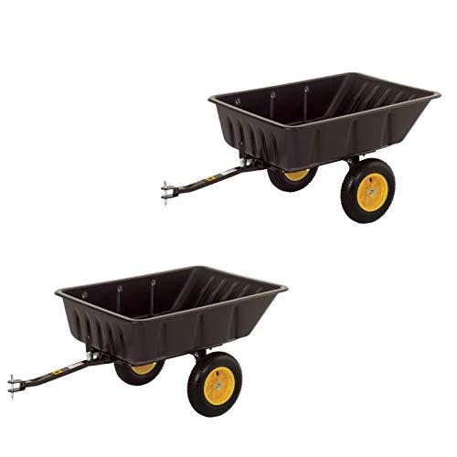 Polar Trailer 10 Cubic Foot Heavy Duty Utility Wheelbarrow Club Cart (2 - Wheelbarrow Cu Ft 10