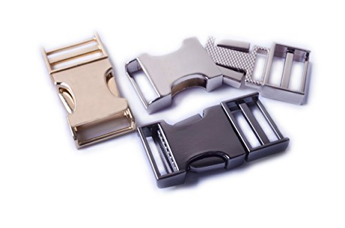 "Bobeey 2pcs 3/4"" Flat Metal Side Release Buckle For Purses m"