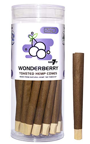 Cyclones WonderBerry Flavored Pre Rolled Hemp Wraps | 25 Pack | Natural Organic Prerolled Wraps with Packing Sticks Included for Efficiency