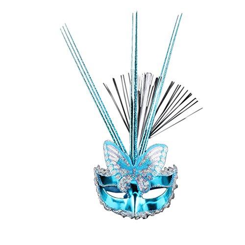 Princess Little Deer Adult Costumes (Vimans 2017 Venetian Sequined Princess Mask Adult Photography Blue Cocktail Mask)