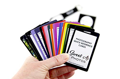 Sweet As Photos - Plastic Double-Sided Photography Quick Reference Cards / Cheat Sheets