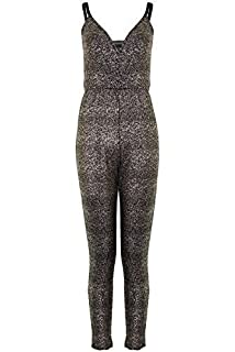 1d251e4d051 Fantasia Boutique ® Ladies Adjustable Straps Wrap V Neck Women s Glittery  Crinkle All In One Jumpsuit