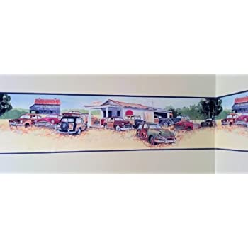 Mel's Diner Cars Wallpaper Border Chevy Ford Flames ...