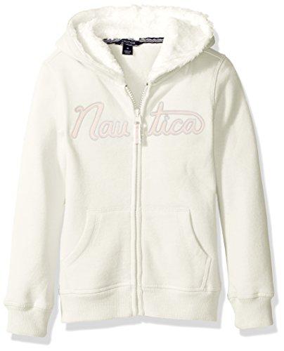 - Nautica Girls' Long Sleeve Hoody, Eyelash Cream, 4
