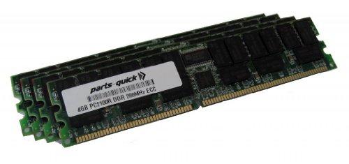 16GB Kit ( 4 X 4GB) Memory Upgrade for HP 9000 Server rp3440 PC2100 Registered 266MHz DDR SDRAM ECC DIMM RAM (PARTS-QUICK BRAND) 266 Mhz Sdram Memory