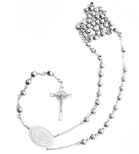 Rosary Necklace Stainless Crucifix Pendant product image