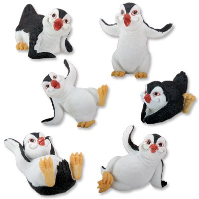 Gorgeous Gifts Lion Mountain (Penguins Collectible Figurine, Set of 6)