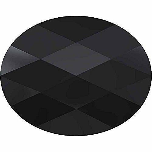Cube Mini Beads (5051 Swarovski Crystal Beads Mini Oval 8x6mm | Jet | 8mm - Pack of 4 | Small & Wholesale Packs)
