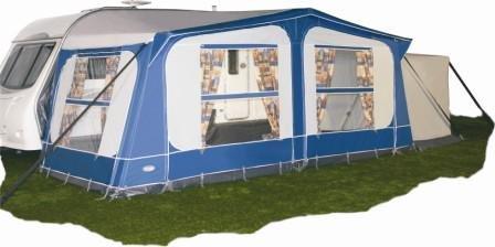 New Tuscany Caravan Awning Blue Size 775 760 784Cm Amazoncouk Garden Outdoors