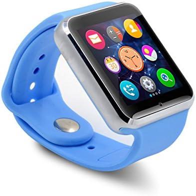 5898c1b2065 Smartwatch A1 Relógio Inteligente Bluetooth Gear Chip Android iOS Touch Faz  e atende ligações SMS Pedômetro Câmera - AZUL