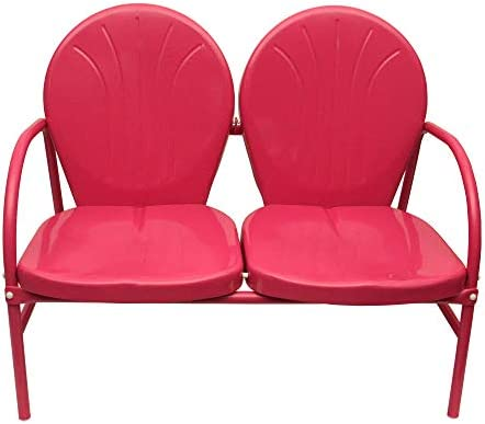 Rich Pacific 41 Pink Retro Tulip Double Seat Chair