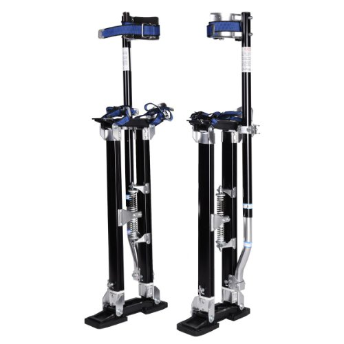 [24-40 Inch Drywall Stilts Adjustable Aluminum Stilt Walking Painting Dura Taping Painter Tools] (Group Costumes For 3 Guys)