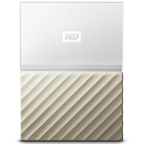 WD 4TB My Passport Ultra Portable External Hard Drive - USB 3.0 - White-Gold - WDBFKT0040BGD-WESN