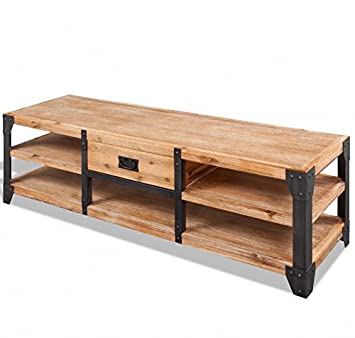 on sale 7f1f7 7bc00 Industrial TV Stand Vintage Rustic Furniture Large: Amazon ...