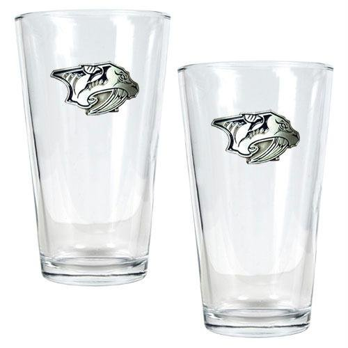 NHL Nashville Predators Two Piece Pint Ale Glass Set - Primary Logo