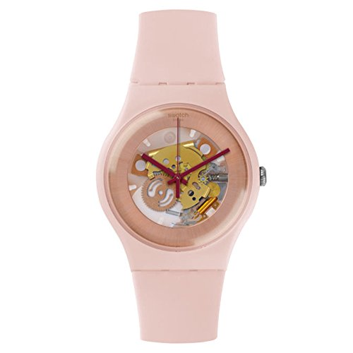 Swatch Women's New Gent SUOP107 Rose Silicone Swiss Quartz Watch