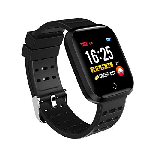 1.3 inch Screen Smart Watch,2019 HOT Heart Rate Blood Pressure Monitor Pedometer Sports Fitness Smart Bracelet for Android iOS (Black) ()