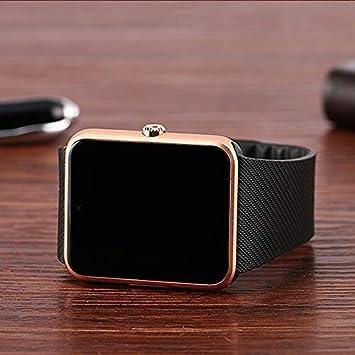 Amazon.com: WATTP Reloj inteligente para Hombre Gt08 reloj de sincronización notificador de apoyo tarjeta SIM Bluetooth conectividad para iOS Android ...