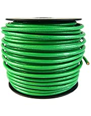 10 Gauge AWG Green Ground Wire Solid Copper UL Listed Cable Satellite 100 Feet