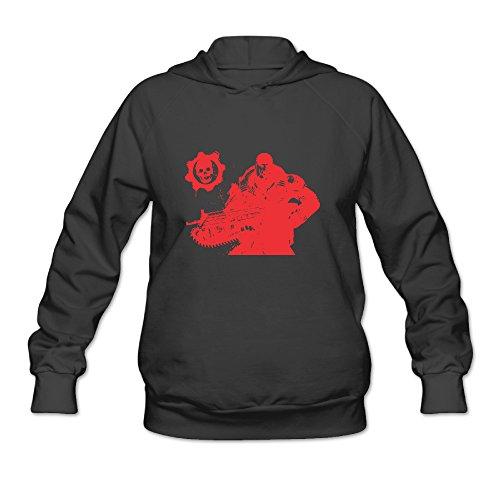 Bekey Women's Gears Of War 4 Hoodie Sweatshirt Size XXL Black