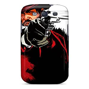 LJF phone case Cute Tpu Mialisabblake Red Dead Redemption Case Cover For Galaxy S3