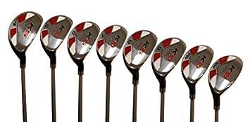 Majek Senior Men s Golf All Hybrid Complete Full Set, which Includes 4, 5, 6, 7, 8, 9, PW SW Senior Flex Right Handed New Utility A Flex Club