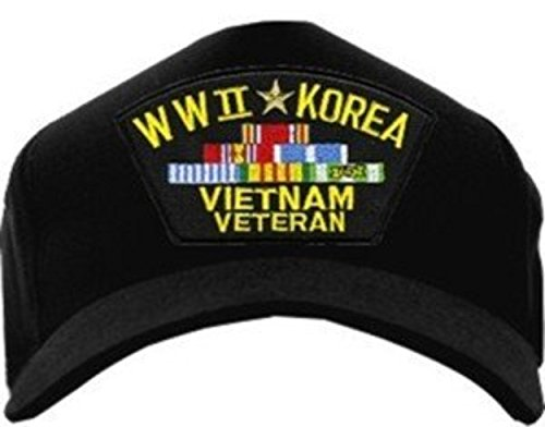 Wwii Ball Cap - MilitaryBest WWII Korea, Vietnam Veteran with Ribbons Ball Cap