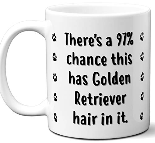 Funny Dog Gifts For Women & Men. Golden Retriever Owner Mug Coffee Tea Cup. Dog Themed Present Dog Mom Dog Dad Dog Lover Men Girls Groomer Women Xmas Birthday Mother's Day, Father's Day.