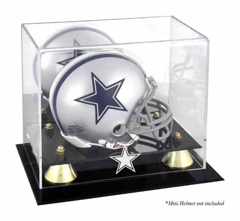 Mounted Memories Dallas Cowboys Mini Helmet Display Case ()