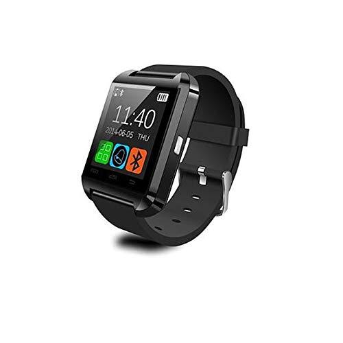 Moda y Único Pantalla táctil Reloj Inteligente Bluetooth Reloj Pulsera para Adultos (Negro)