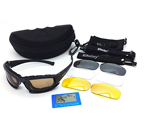 AoMagic Polarized Glasses Tactical Goggles Dust-proof Protective Outdoor Sport Glasses Sunglasses with 4 Replaceable - Popular Frames Glasses 2015