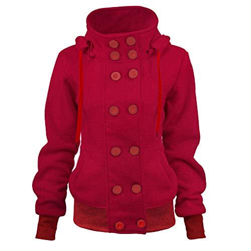 xl Coat Longues Vestes Parka Outwear Rouge Spring pour Trench Ashop Vêtements Bleu S Rouge Marine Manches Noir femmes Rat0xX