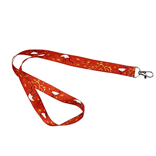- Terracotta Warriors Museum Souvenir Lanyard, Dragon and Phoenix Bronze Crane Pattern Lanyard Suitable for Keychain ID Card Holder Rope ID Badges (red Feng Yu Long Scale)