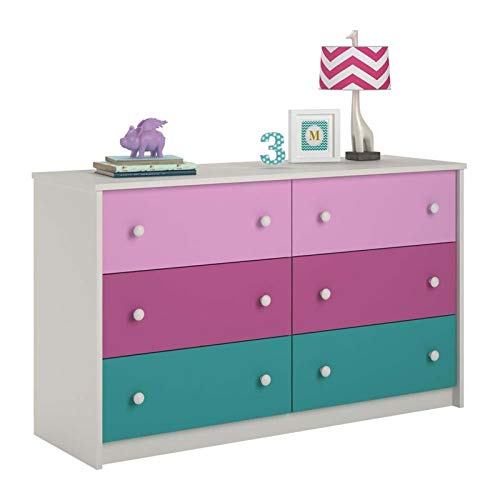 Ameriwood Home Kaleidoscope 6 Drawer Dresser, Whimsy