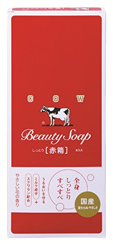 COW BRAND Soap Red Box 100g*6pieces