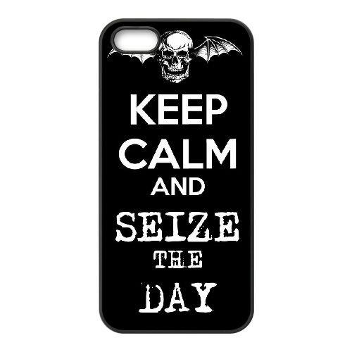 Avenged Sevenfold coque iPhone 5 5S Housse téléphone Noir de couverture de cas coque EBDOBCKCO12977