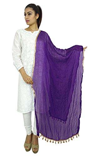 Indian Dupatta Chiffon Chunni Tassel product image