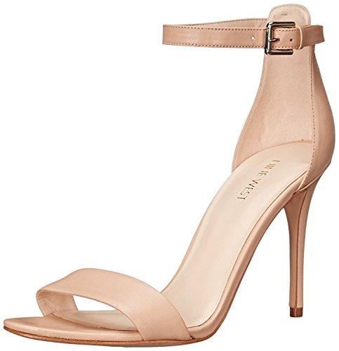 Nine West Women's Mana Leather Heeled Sandal, Natural, 42 B(M) EU/9 B(M) UK