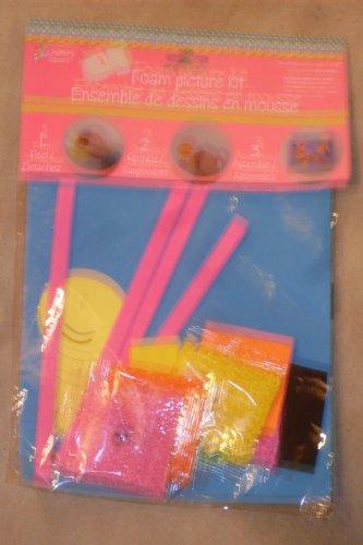 - Foam Picture Kit - 1 EVA Foam Sheet, 2 Foams Stickers, 1 Caterpillar Paper Sticker, 4 EVA Stickers, 2 Plastic Google Eyes, 9 EVA Foam Shapes, 4 Packages of EVA Foam Mosaic