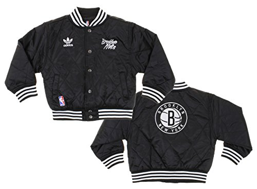 Adidas Brooklyn Nets NBA Kids Varsity Jacket, Black (Medi...