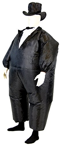 Tuxedo Tux Adult Black Inflatable Chub Suit (Black Inflatable Adult Costumes)